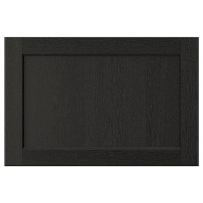 LERHYTTAN Čelo zásuvky, čierne morené, 60x40 cm