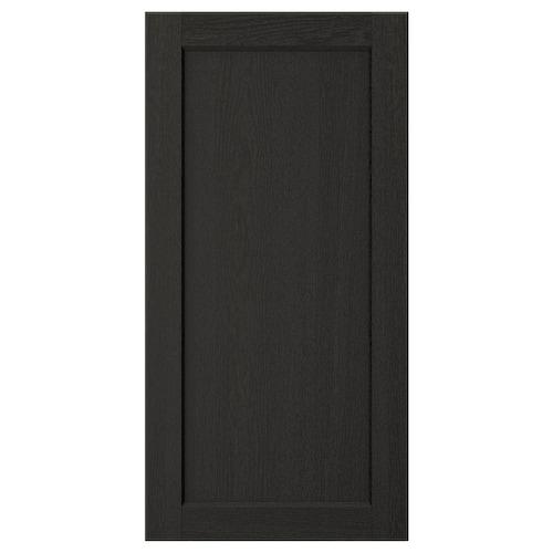 LERHYTTAN dvere čierne morené 39.7 cm 80.0 cm 40.0 cm 79.7 cm 1.9 cm