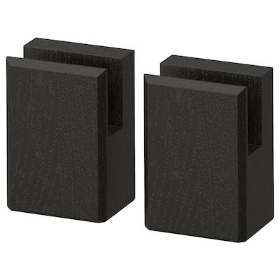 LERHYTTAN Noha pre dekoratívny sokel, čierne morené, 8 cm