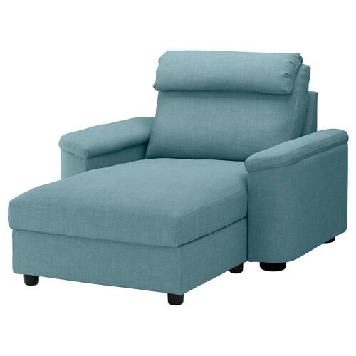 LIDHULT ležadlo Gassebol modrá/sivá 102 cm 74 cm 138 cm 160 cm 7 cm 90 cm 128 cm 42 cm
