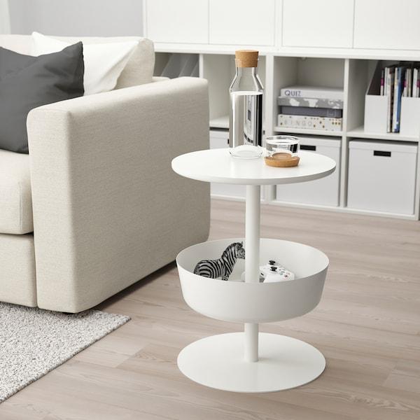LIERSKOGEN nočný stolík biela 74 cm 42 cm