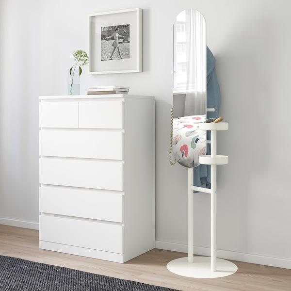LIERSKOGEN Stojanový vešiak so zrkadlom biela 50 cm 50 cm 185 cm 26 cm