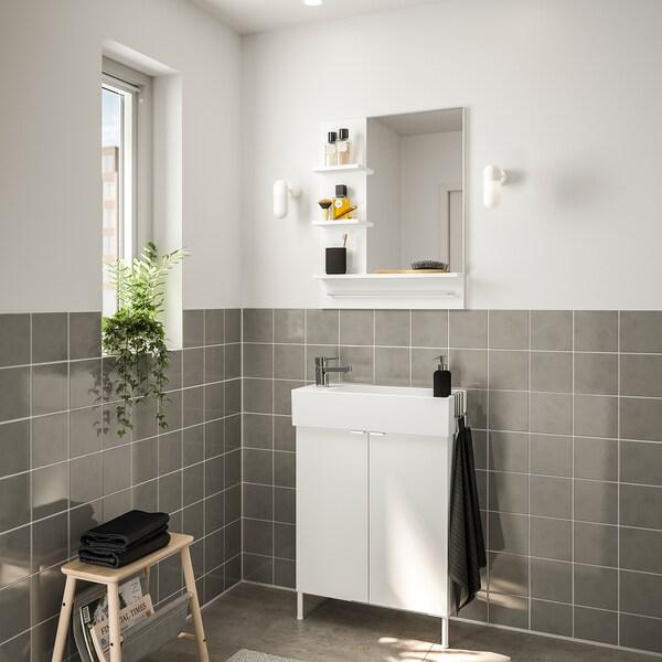 LILLÅNGEN / LILLÅNGEN nábytok do kúpeľne, súprava 5ks biela/Batérie ENSEN 62 cm 60 cm 49 cm 89 cm