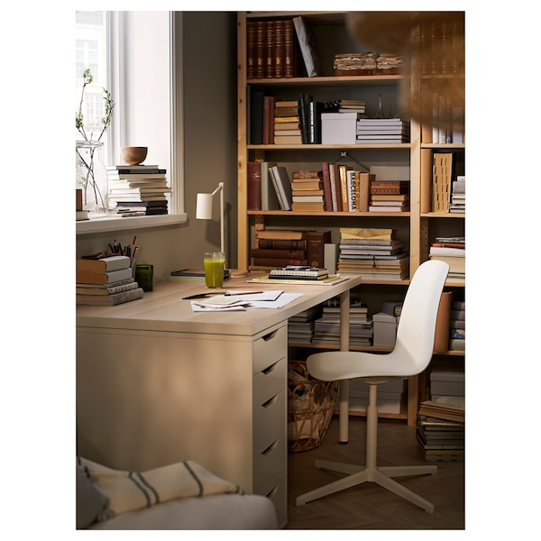 LINNMON / ALEX stôl biela bielo morený dub vzor/biela 150 cm 75 cm 73 cm 50 kg