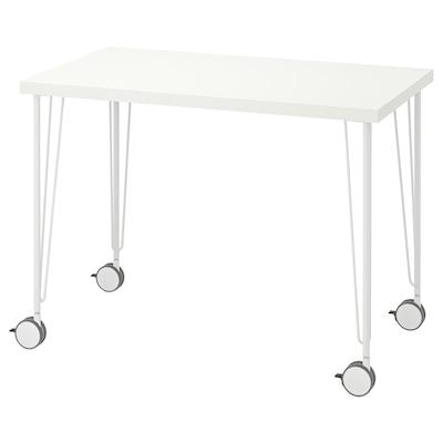 LINNMON / KRILLE Stôl, biela, 100x60 cm