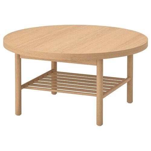 LISTERBY konferenčný stolík biela morená dub 45 cm 90 cm