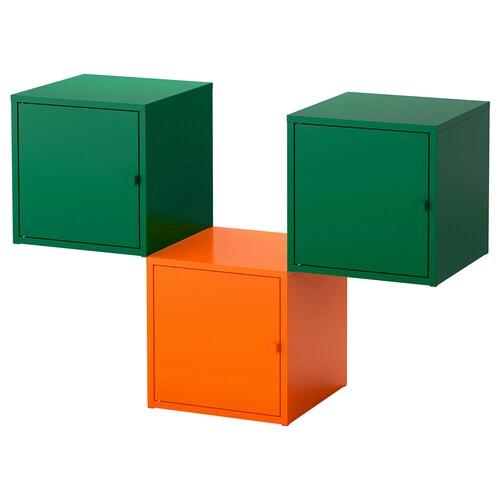 LIXHULT úložná kombinácia oranžová/tmavozelená 105 cm 35 cm 70 cm