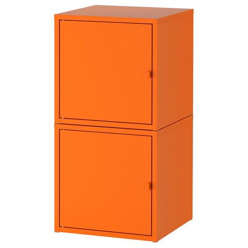 LIXHULT úložná kombinácia oranžová/oranžová 35 cm 35 cm 70 cm