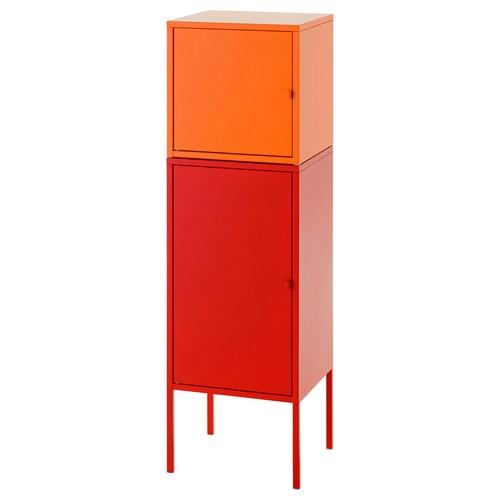 LIXHULT úložná kombinácia červená/oranžová 95 cm 117 cm 35 cm 35 cm 21 cm 12 kg