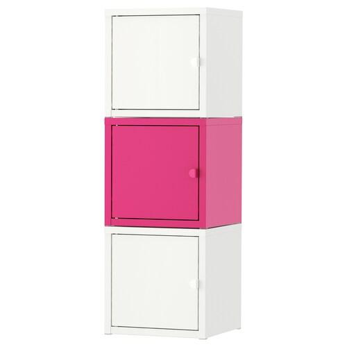 LIXHULT úložná kombinácia biela/ružová 25 cm 25 cm 75 cm