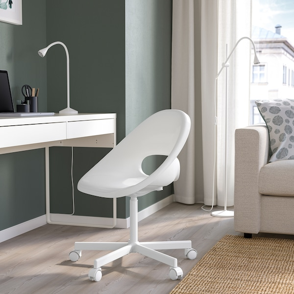 LOBERGET / BLYSKÄR Otočná stolička, biela