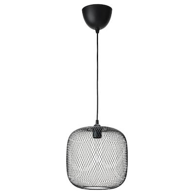 LUFTMASSA / HEMMA Závesná lampa, zaoblené/čierna, 26 cm
