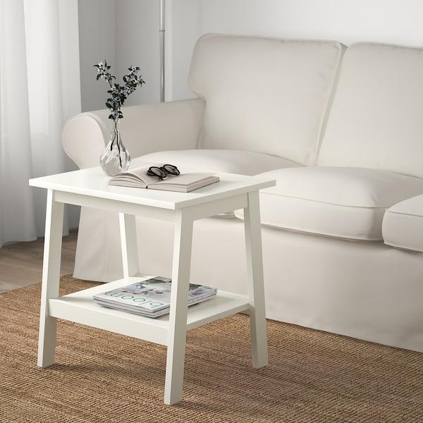 LUNNARP Príručný stolík, biela, 55x45 cm