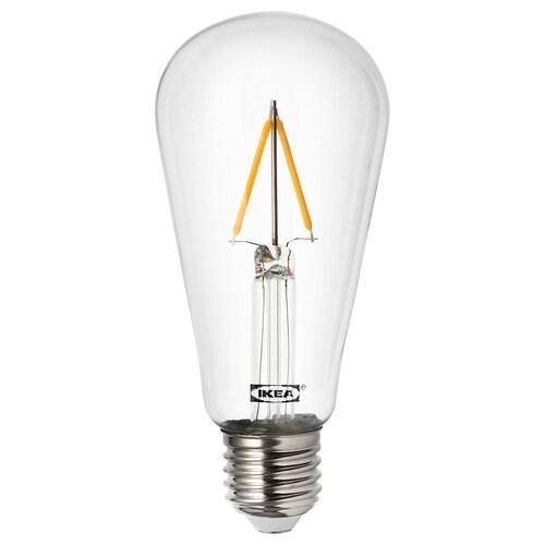 LUNNOM žiarovka LED E27, 100 lm v tvare kvapky priehľadná 2200 kelvin 100 lm 60 mm 0.9 W