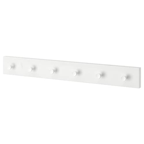 LURT / GUBBARP lišta so 6 vešiakmi biela/biela 57 cm 4.7 cm 7 cm