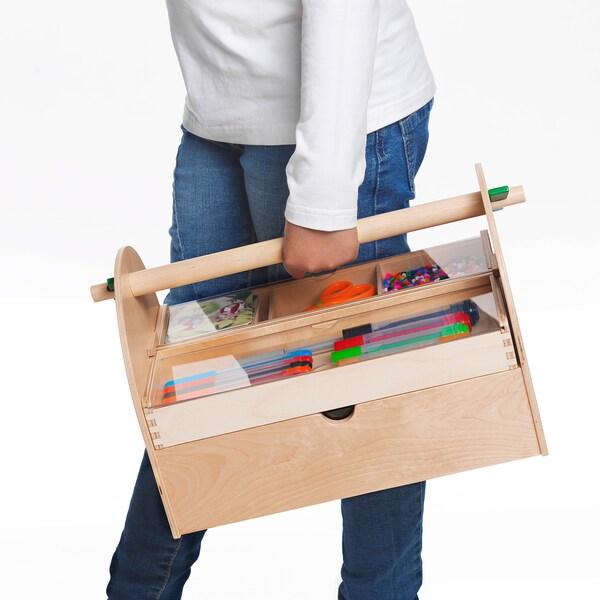 LUSTIGT Úložný diel na umelecké potreby, drevo