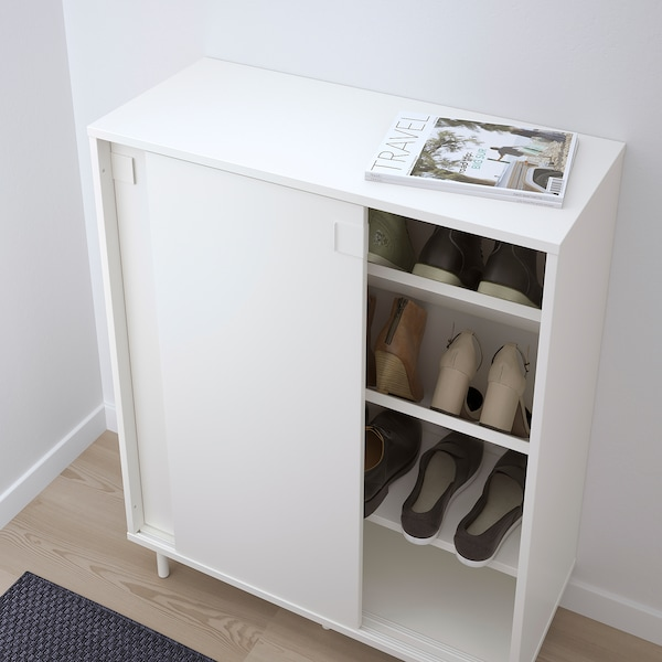 MACKAPÄR skrinka na topánky biela 80 cm 35 cm 102 cm