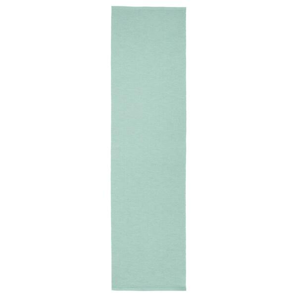 MÄRIT obrus svetlotyrkysová 130 cm 35 cm
