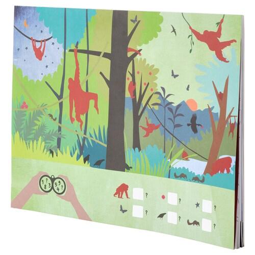 MÅLA kniha aktivít orangutan 24 kusov 40 cm 30 cm