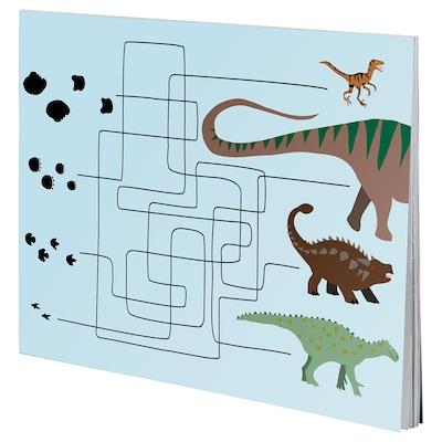 MÅLA Kniha aktivít, dinosaurus