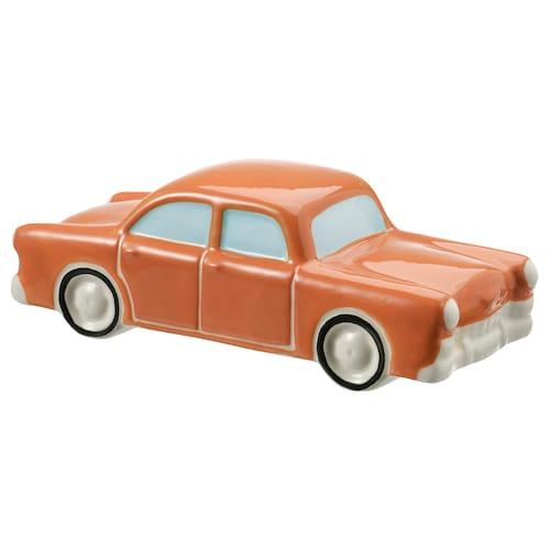 MÅLERISK dekorácia auto oranžová 20 cm 7 cm