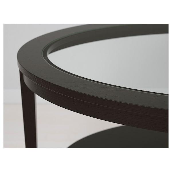MALMSTA Príručný stolík, čierno-hnedá, 54 cm