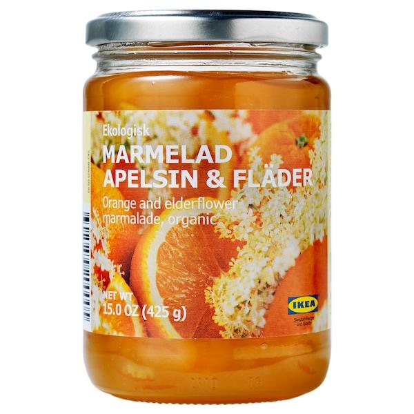 MARMELAD APELSIN & FLÄDER pomarančová a bazová marmeláda organický  425 g