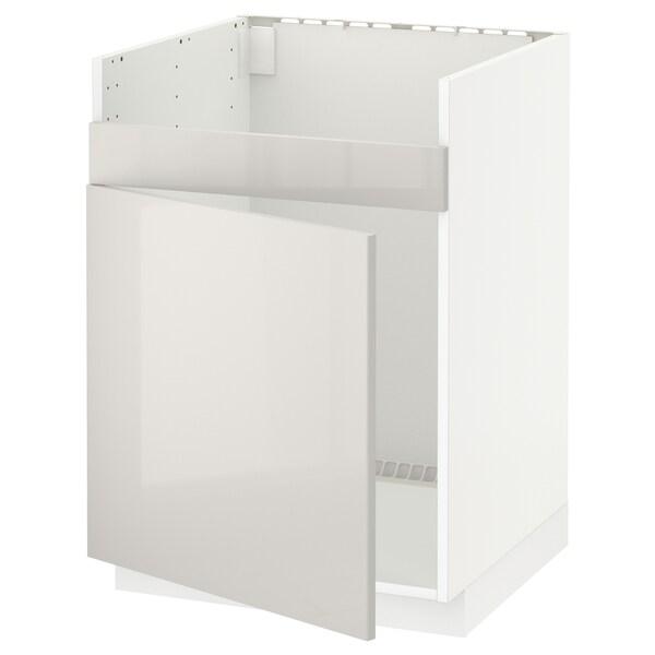 METOD skrinka pod drez HAVSEN jedn biela/Ringhult svetlosivá 60.0 cm 61.8 cm 88.0 cm 60.0 cm 80.0 cm