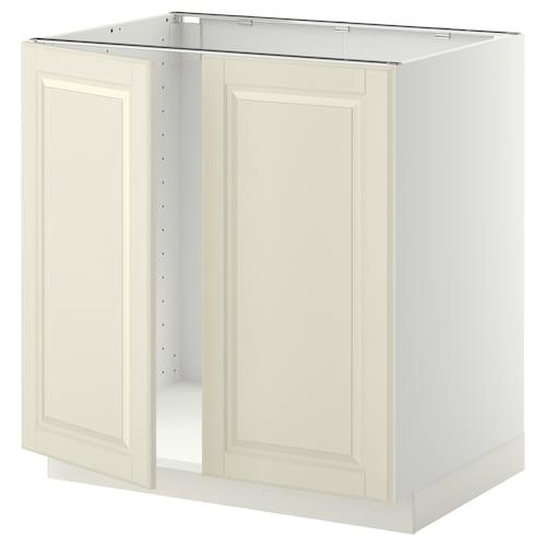 METOD skrinka na drez + 2dvere biela/Bodbyn krémová 80.0 cm 61.9 cm 88.0 cm 60.0 cm 80.0 cm
