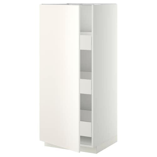 METOD / FÖRVARA vysoká skrinka so zásuvkami biela/Veddinge biela 60.0 cm 61.6 cm 148.0 cm 60.0 cm 140.0 cm