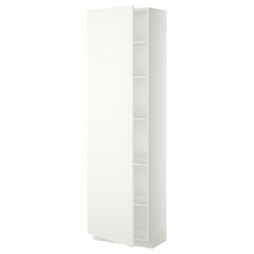 METOD vysoká skrinka s policami biela/Häggeby biela 60.0 cm 39.2 cm 208.0 cm 37.0 cm 200.0 cm