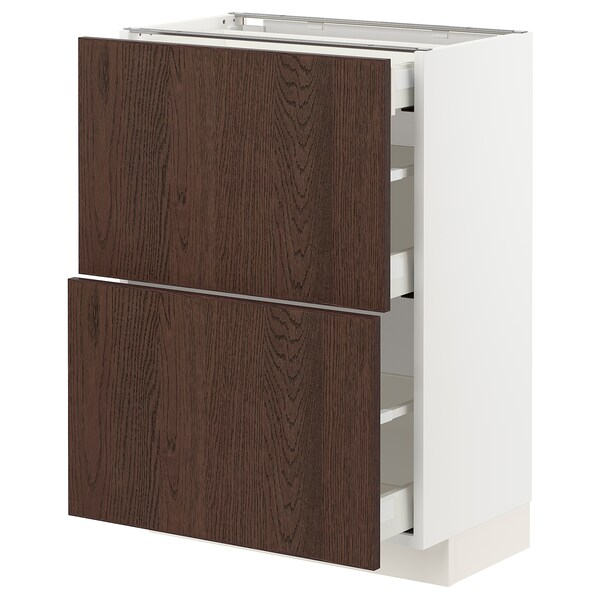 METOD / MAXIMERA Spod skr 2čel/3zás, biela/Sinarp hnedá, 60x37 cm