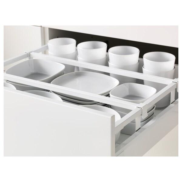 METOD / MAXIMERA Spod skr 4čelá/2níz/3str zás, biela/Bodbyn sivá, 60x60 cm