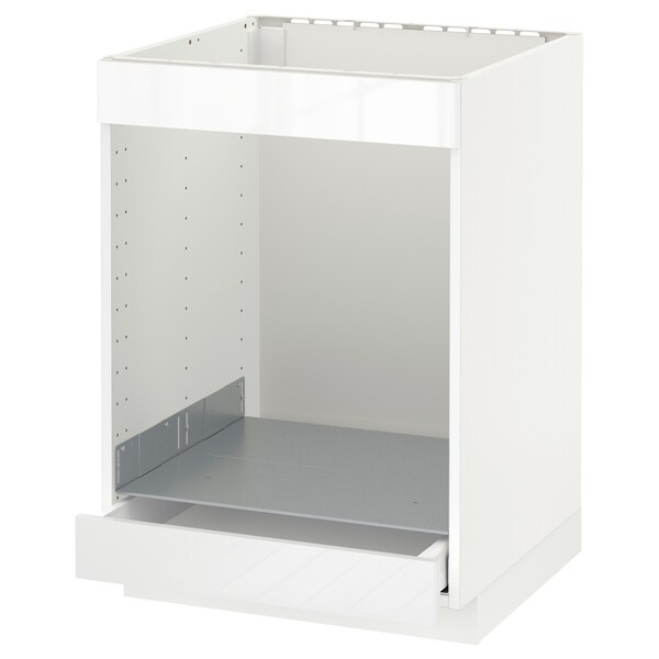 METOD / MAXIMERA Spod skr/var dos/rur/zas, biela/Ringhult biela, 60x60 cm
