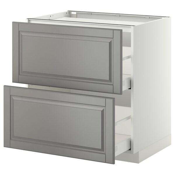 METOD / MAXIMERA Spod skr varná dos/2 čelá/2 zás, biela/Bodbyn sivá, 80x60 cm