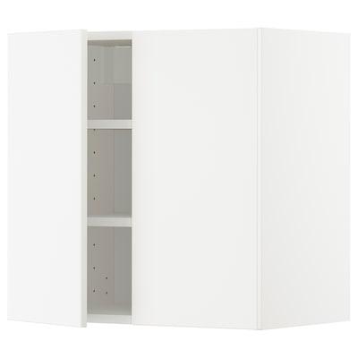 METOD Nást. skrin s polic/2 dv, biela/Veddinge biela, 60x60 cm