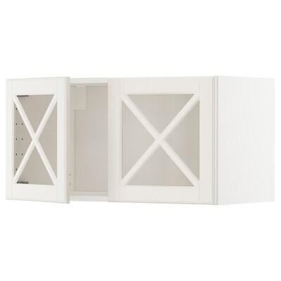 METOD Nást. skrinka/2 skl. dvere, biela/Bodbyn krémová, 80x40 cm