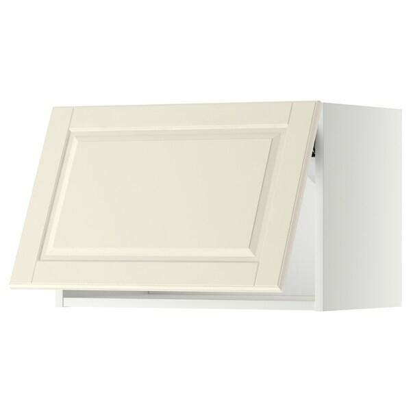 METOD Nástenná skrinka horizontálna, biela/Bodbyn krémová, 60x40 cm