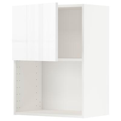 METOD Nástenná skrinka na mikrovlnku, biela/Ringhult biela, 60x80 cm
