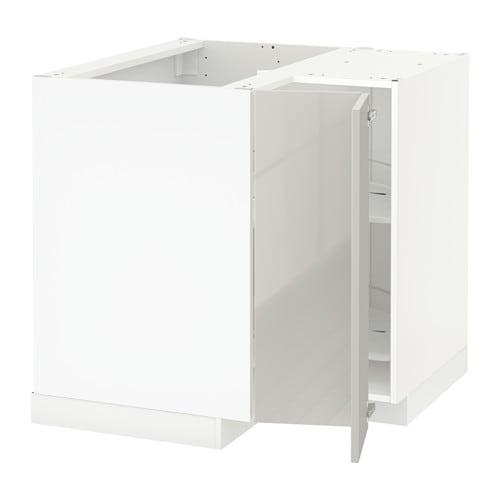 metod rohov skrinka s oto ko om biela ringhult leskl svetlosiv ikea. Black Bedroom Furniture Sets. Home Design Ideas