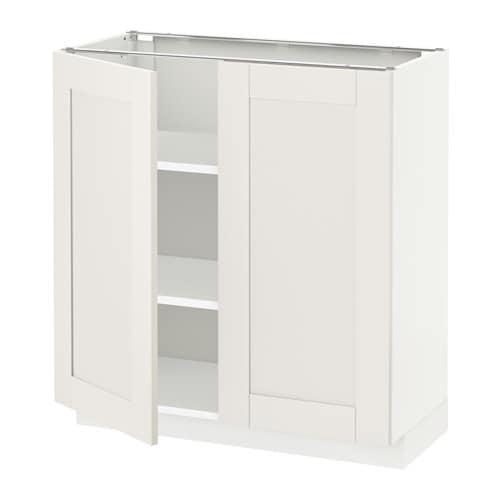 metod skrinka s policami 2dvierka biela s vedal biela 80x37 cm ikea. Black Bedroom Furniture Sets. Home Design Ideas