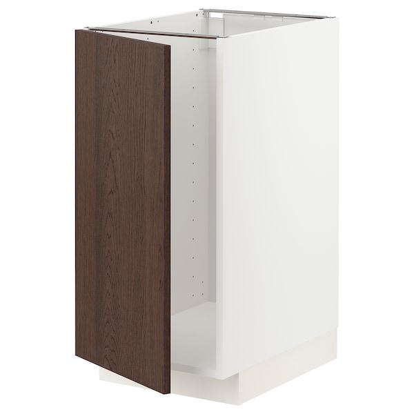 METOD Sp. skrinka na drez/tried. odpadu, biela/Sinarp hnedá, 40x60 cm