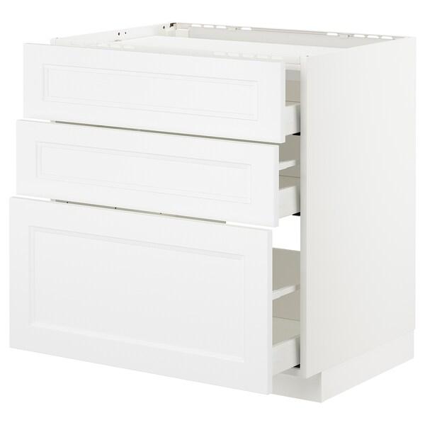 METOD Spod skr na var dosku/3 čelá/3 zás, biela/Axstad matná biela, 80x60 cm