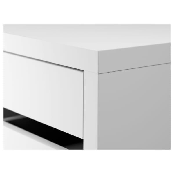 MICKE Zásuvkový diel na kolieskach, biela, 35x75 cm