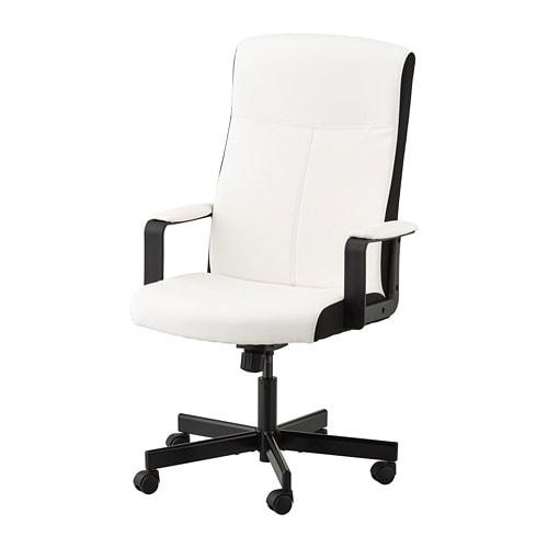 e9e2bc9dd1ac MILLBERGET Otočná stolička - Kimstad biela - IKEA