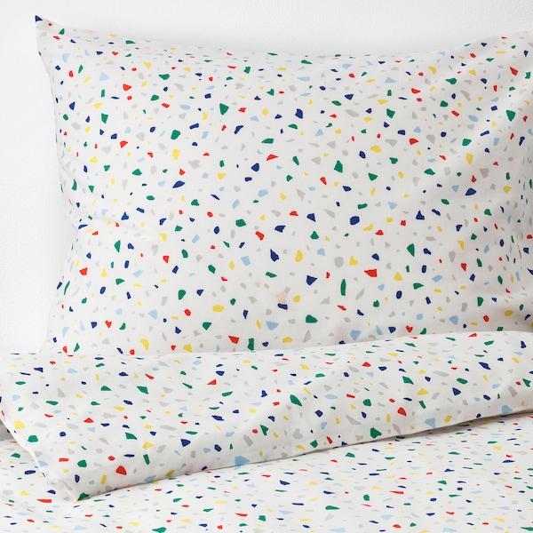 MÖJLIGHET posteľné obliečky biela/vzhľad mozaiky 200 cm 150 cm 50 cm 60 cm