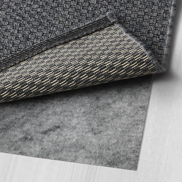MORUM Koberec, hladko tkaný, vnút/vonk, tmavosivá, 80x200 cm