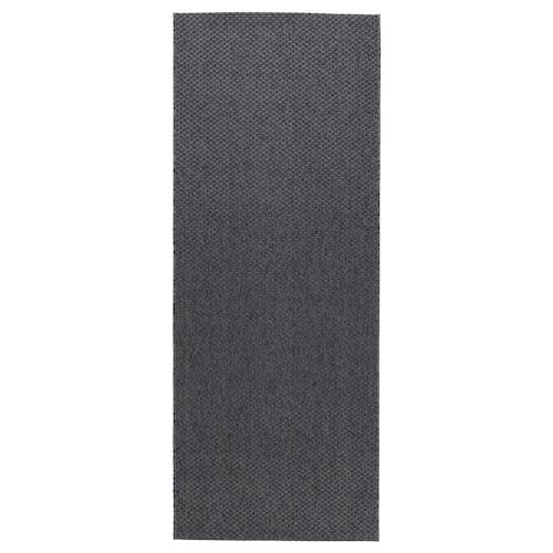 MORUM koberec, hladko tkaný, vnút/vonk tmavosivá 200 cm 80 cm 5 mm 1.60 m² 1385 g/m²