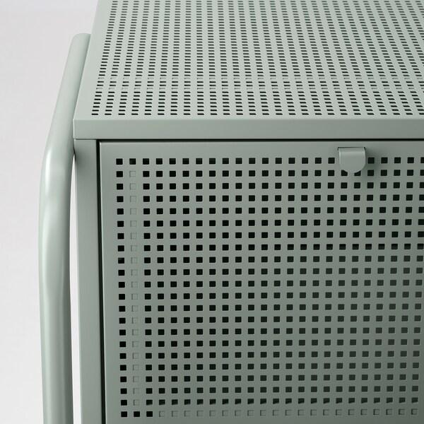 NIKKEBY komoda s 2 zásuvkami sivozelená 46 cm 49 cm 70 cm 34.0 cm 35.5 cm 17.5 cm