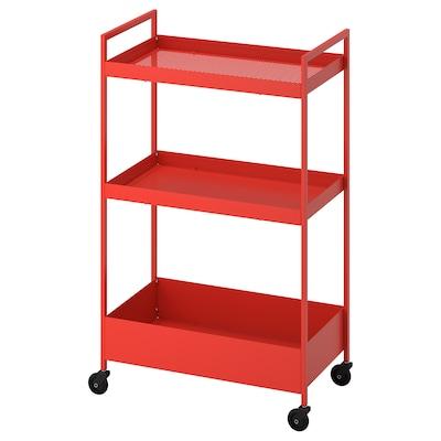 NISSAFORS Vozík, červeno-oranžová, 50.5x30x83 cm